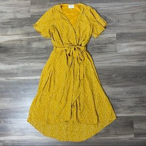 Yellow Wrap Dress XS